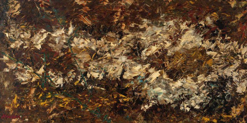 Salvatore Nocera, Degel de la Campagne veronese, olio su tela, 140x70 cm, 1967