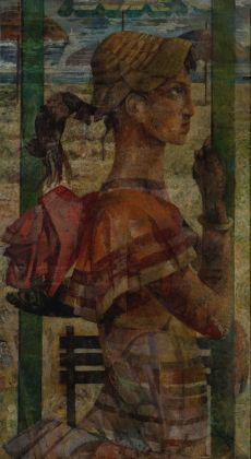 Salvatore Nocera, Senza Titolo, olio su tela, 60x100 cm (s.d. / 1958ca.)