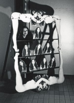 ORLAN, Têtes à claques, jeu de massacre, 1977 © ORLAN / ADAGP