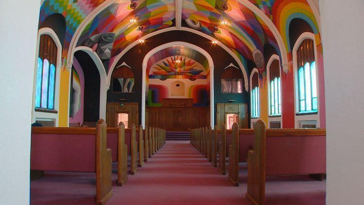 Okuda San Miguel, affresco per The International Church of Cannabis