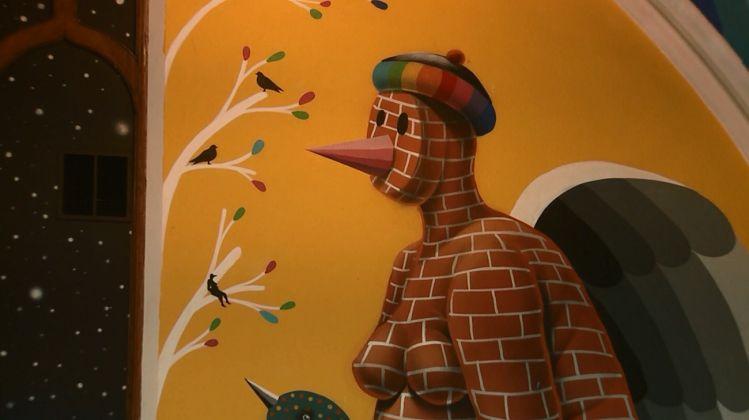 Okuda San Miguel, affresco per The International Church of Cannabis - dettaglio