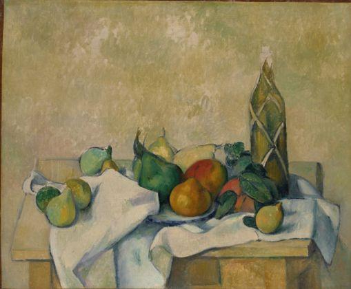 Paul Cézanne, Bouteille de liqueur, 1890 ca., olio su tela, cm 54.2 x 65.5, Pola Museum of Art