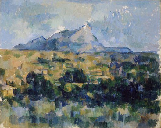 Paul Cézanne, La Montagne Sainte-Victoire vue des Lauves, 1902-06, olio su tela, cm 65 x 81, Collezione privata
