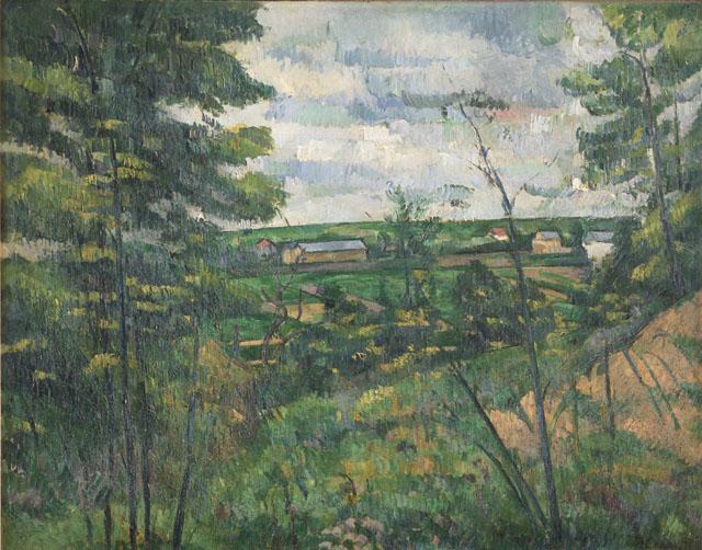 Paul Cézanne, La Plaine de Saint-Ouen-l'Aumône vue prise de les carrières du Chou, 1880 ca., olio su tela, cm 72 x 91, Collezione privata