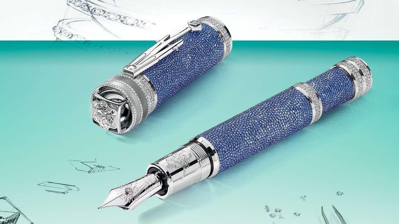 Penna Montblanc con diamanti, limited edtition dedicata a Keplero