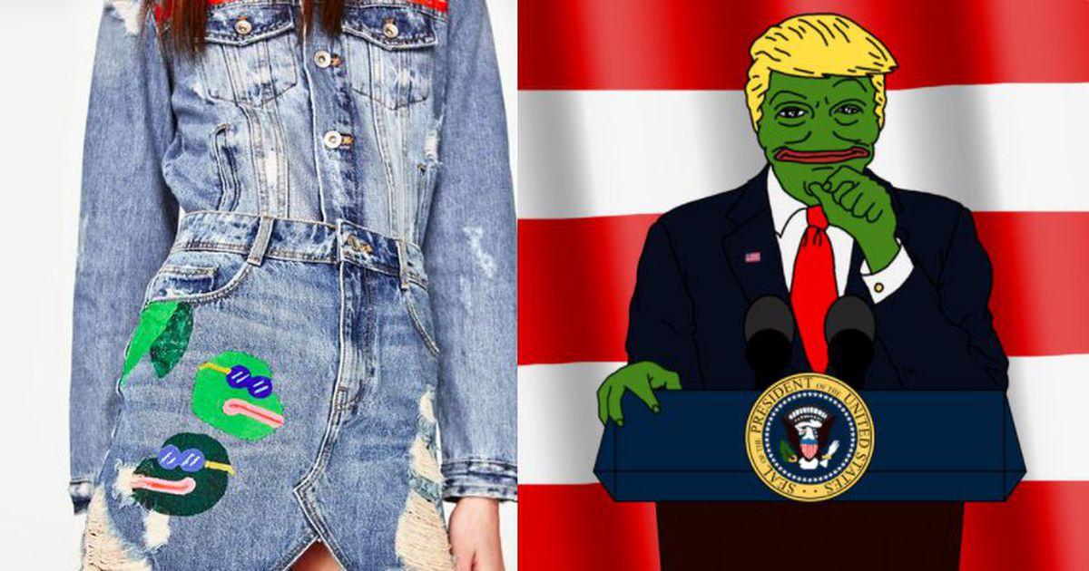 Pepe the Frog come Donald Trump e sulla minigonna Zara