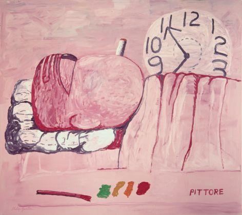 Philip Guston, Pittore, 1973. Olio su tela, 184,8 x 204,5 cm. Collezione privata. © 2016 The Estate of Philip Guston / Hauser & Wirth