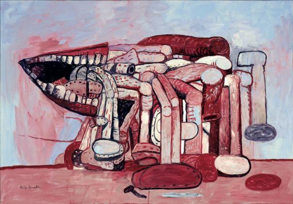 Philip Guston, The Palette, 1975. Olio su tavola, 132 × 202 cm. Collezione privata. © 2016 The Estate of Philip Guston / Hauser & Wirth
