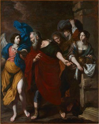 Pietro Novelli, Lot e la famiglia in fuga da Sodoma, 1640 ca., Real Monasterio de San Lorenzo de El Escorial, courtesy Patrimonio Nacional