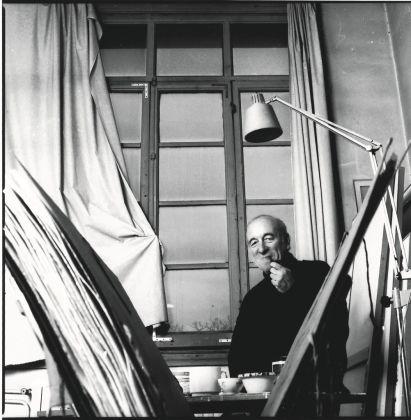 Riccardo Guarneri nello studio di Piazza Savonarola