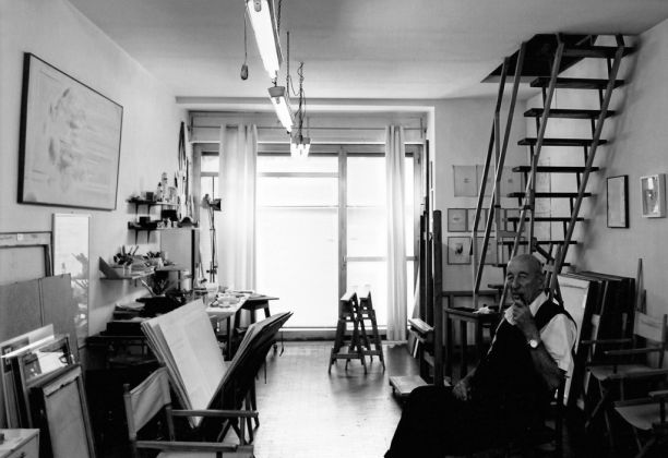 Riccardo Guarneri nello studio di via Campo d'Arrigo, Firenze 2016. Photo credits Emiliano Zucchini