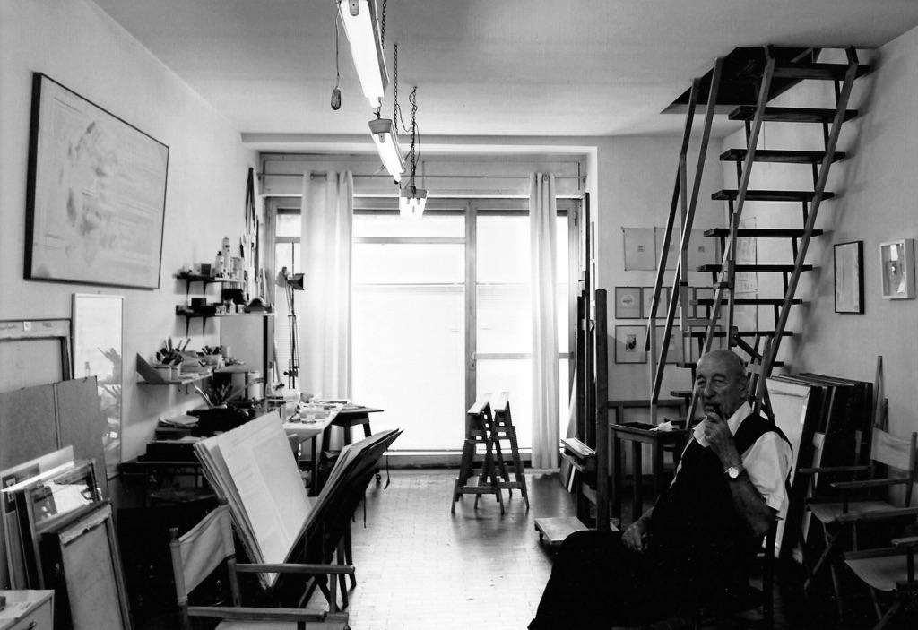 Riccardo Guarneri nello studio di via Campo d'Arrigo, Firenze 2016