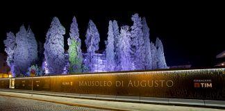 Rinascita del Mausoleo di Augusto, Roma Capitale e Fondazione TIM. Pannelli palizzata esterna