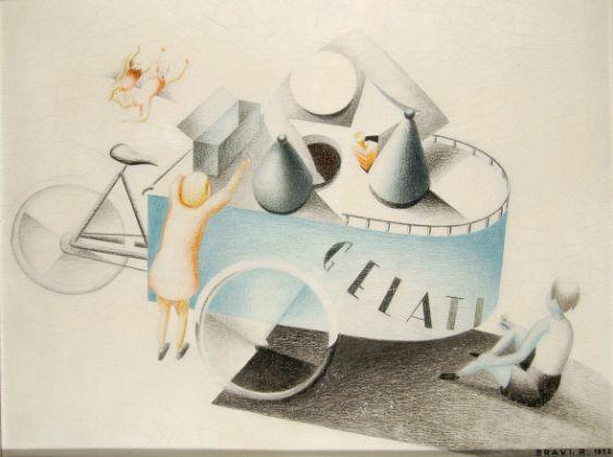 Rolando Bravi, Gelati, 1932, pastelli su cementite, 52x67 cm