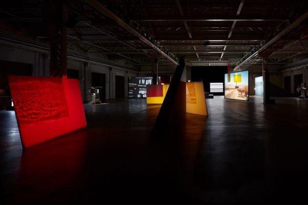 Rosa Barba, From Source to Poem to Rhythm to Reader, 2016. Installation view at Pirelli HangarBicocca, Milano 2017. Photo Agostino Osio