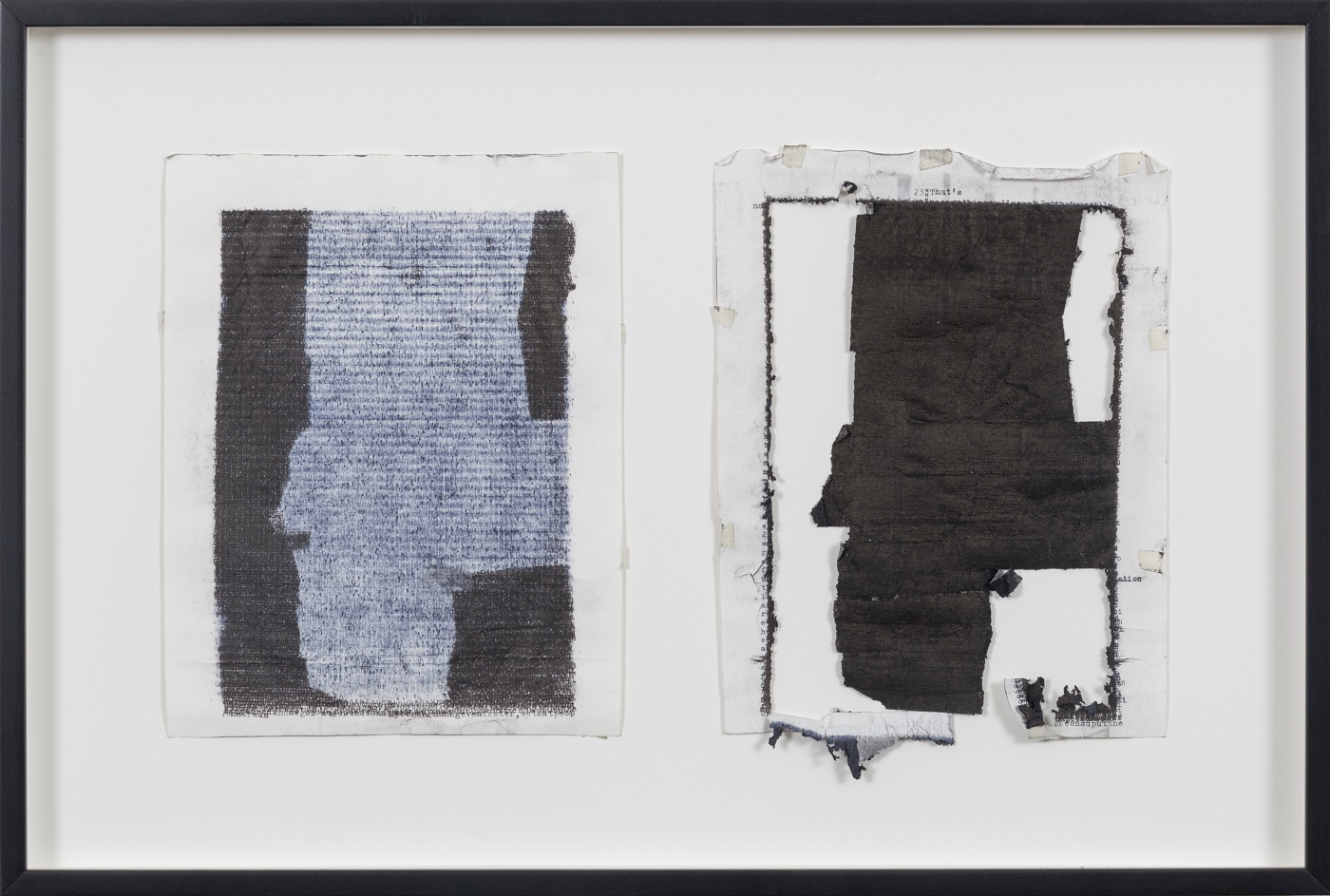 Tim Youd, Kingsley Amis' Lucky Jim, 2015. typewriter ink on paper. framed 17 x 25 inches (43.2 x 63.5 cm). Courtesy the artist and Cristin Tierney Gallery, New York