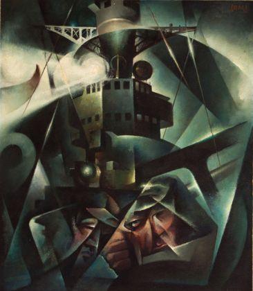 Tullio Crali, I naviganti, 1933-34, olio su tela, 81x71 cm