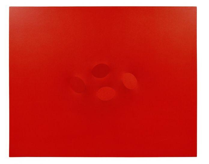Turi Simeti, 4 ovali rossi, 2010