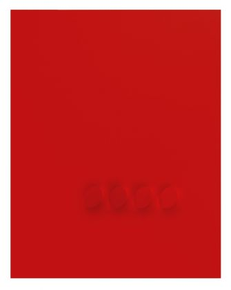 Turi Simeti, 4 ovali rossi, 2015
