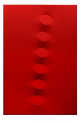 Turi Simeti, 6 ovali rossi, 2015