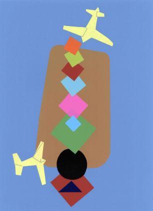Wladirimo Tulli, In picchiata nell'arcobaleno, 1942, serigrafia, 50x35 cm