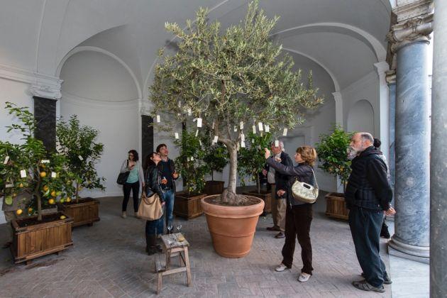 Yoko Ono, Wish Trees, 1966-2017. Installation view at Villa Medici, Roma 2017. Photo Sebastiano Luciano © Yoko Ono