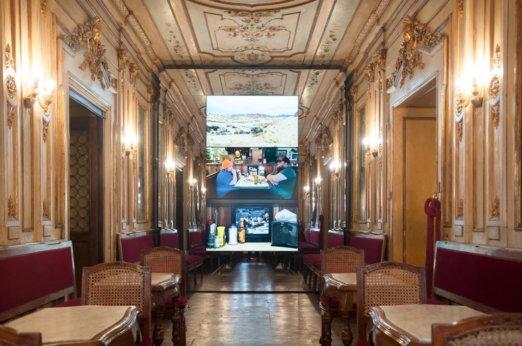 Yuri Ancarani, Riogrande, Caffè Florian, Venezia 2017. Photo Irene Fanizza