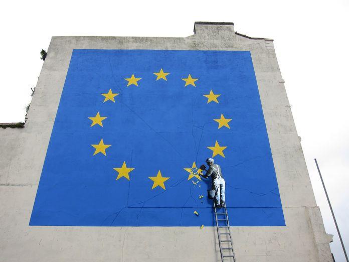 L'opera dedicata alla Brexit a Dover, nel Regno Unito