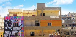 Murales di Ashekman nel quartiere di Ouzai