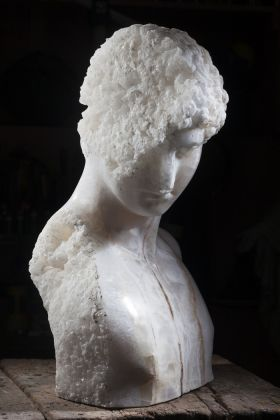Massimiliano Pelletti, Crystal boy, 2016, onice bianco