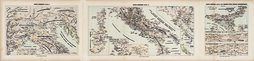 Emilio Isgrò, Italie, 1970, china su carta geografica