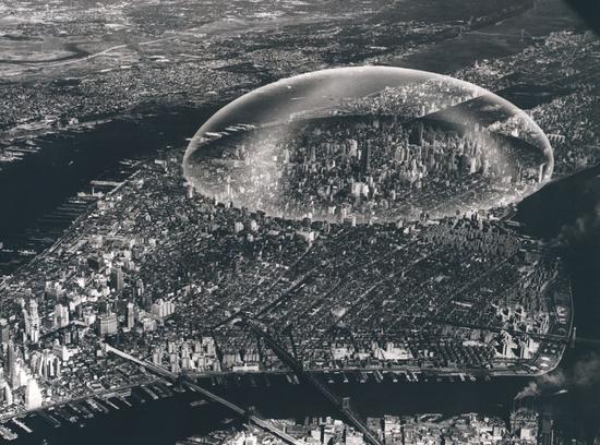 R. Buckminster, Fuller's Dome Over Manhattan 1961 Never Built New York Metropolis Books