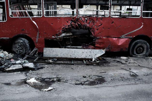 Un'opera della mostra fotografica Syria In/Out