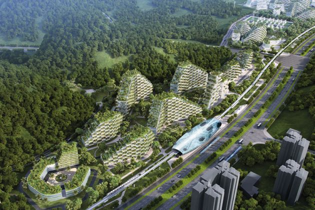 Stefano Boeri architetti Liuzhou for est city masterplan Cina