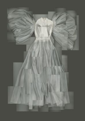 """Grès haute couture, SS 1960, Wedding dress by Dorothy McGowan in """"Who are you Polly Maggoo"""" by William Klein (1966) Palais Galliera Ph. Katerina Jebb"""