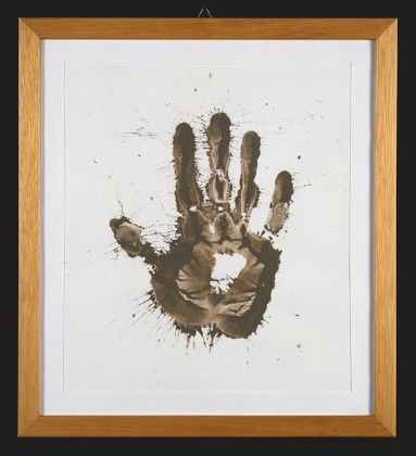 Richard Long, Impronta di Mano, ph. Roberto Marossi