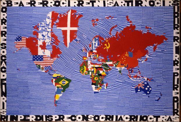 Alighiero Boetti, Mappa, 1973. Courtesy Collezione La Gaia, Busca