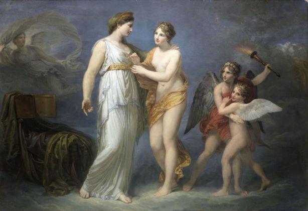 Andrea Appiani, Venere allaccia il cinto a Giunone, 1810 12 ca., olio su tela. Collezione privata