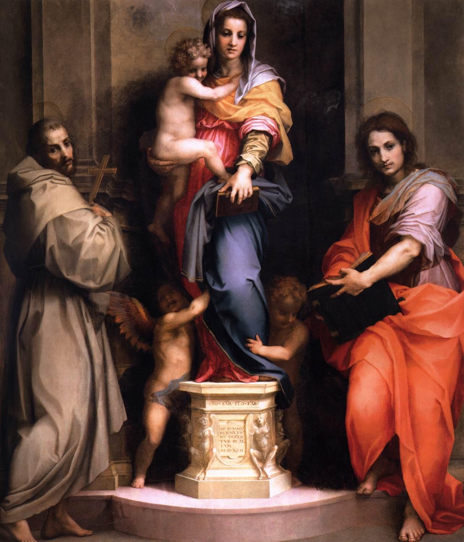 Andrea del Sarto, Madonna delle Arpie, 1517. Galleria degli Uffizi, Firenze