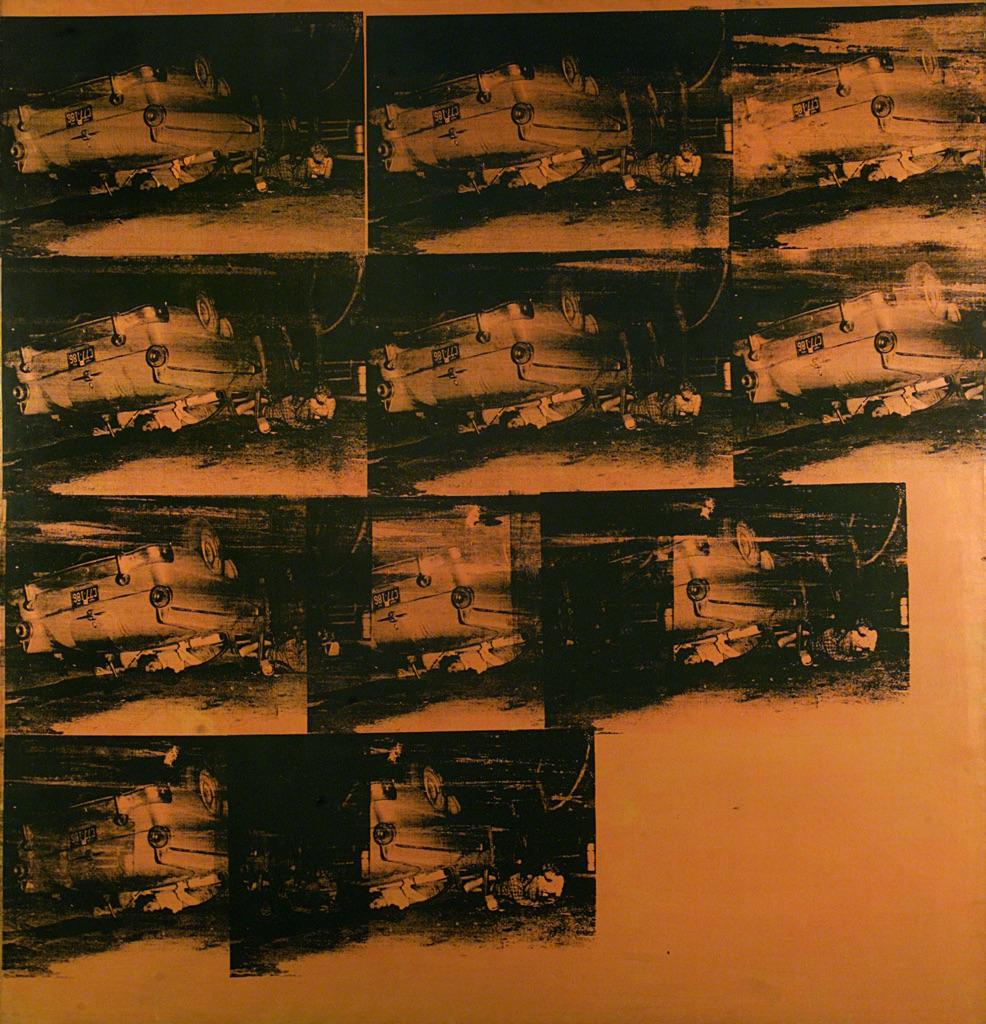 Andy Warhol, Orange Car Crash (5 Deaths 11 Times in Orange) (Orange Disaster), 1963. GAM, Torino