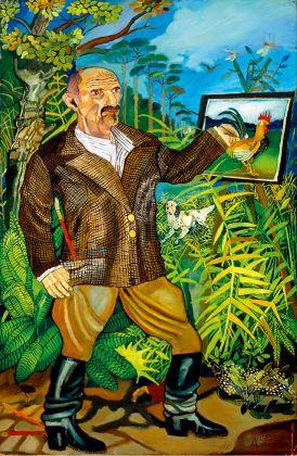 Antonio Ligabue, Il grande autoritratto, 1950-55, olio su faesite, 190x130 cm