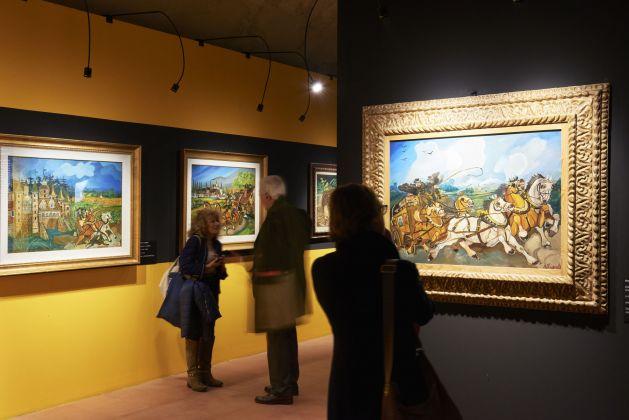Antonio Ligabue. Exhibition view at Scuderie del Castello Visconteo, Pavia 2017