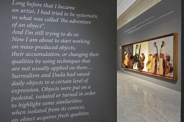 Arman 1954-2005. Exhibition view at Palazzo Cipolla, Roma 2017