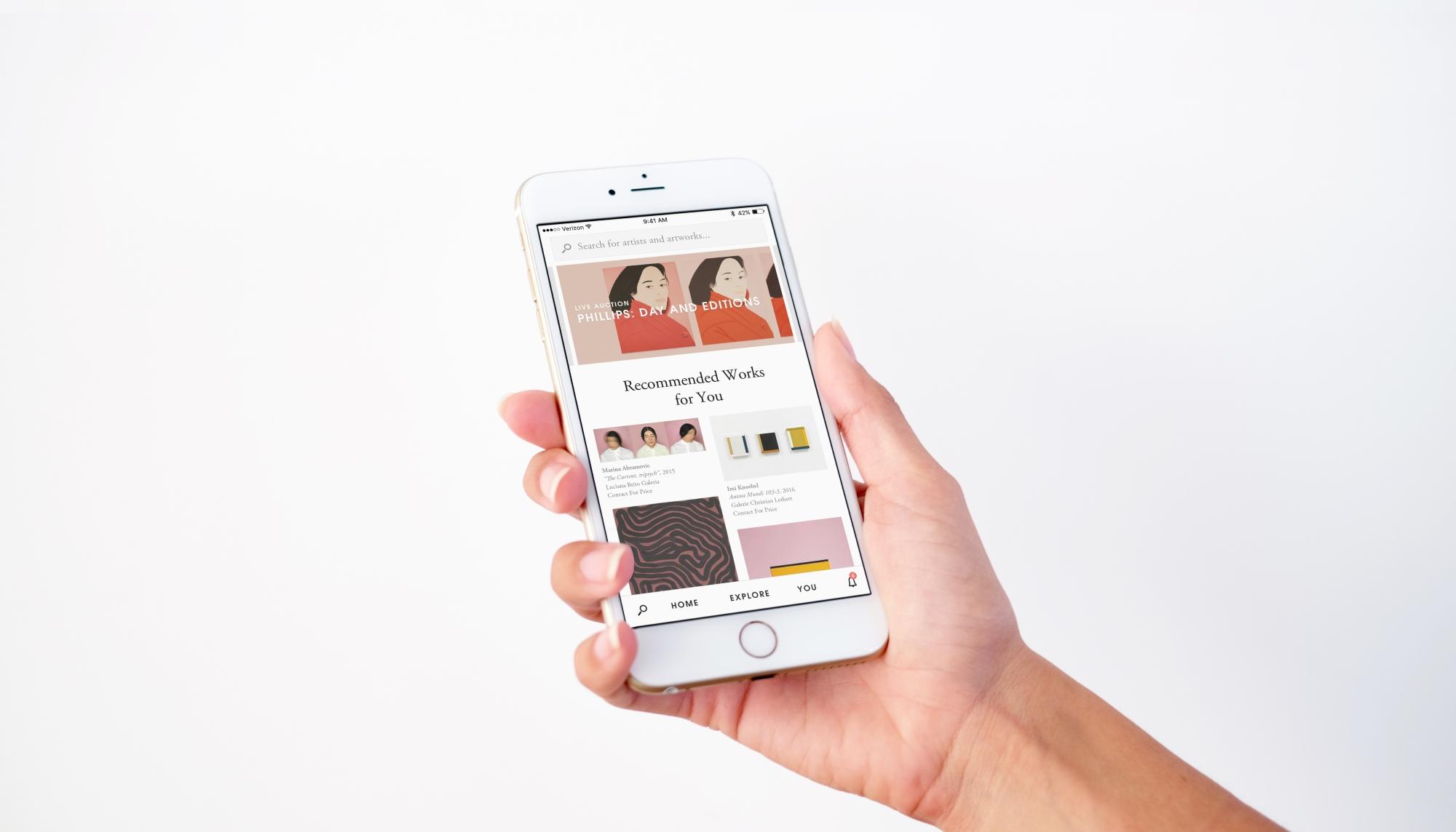 Artsy.net su smartphone