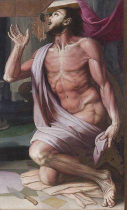 Bronzino (Agnolo di Cosimo) San Bartolomeo, s.d., olio su tavola, Accademia Nazionale di San Luca, Roma