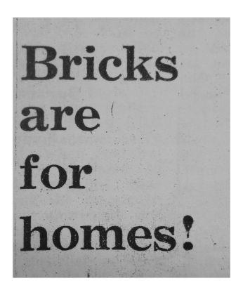 Bricks. Courtesy Elisabetta Benassi