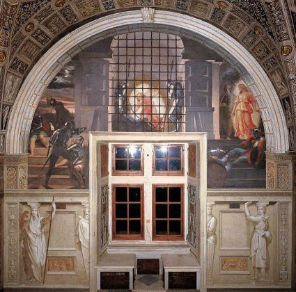 Stanza di Eliodoro: Liberazione di San Pietro dal carcere. Le Stanze di Raffaello illuminate da Osram © Governatorato dello Stato della Città del Vaticano
