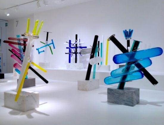 Ettore Sottsass, Il vetro. Installation view at Le Stanze del Vetro, Venezia 2017