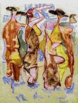 Fausto Pirandello, Le bagnanti, 1962. Roma, collezione privata