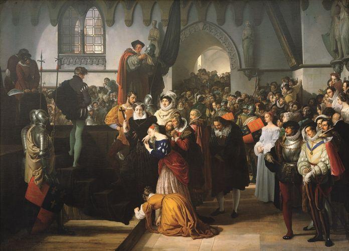 Francesco Hayez, Maria Stuarda sale al patibolo, 1827, olio su tela. Milano, Collezione Banca Cesare Ponti